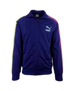 Shop Puma Iconic T7 Track Jacket Mens Elektro Blue at Side Step Online
