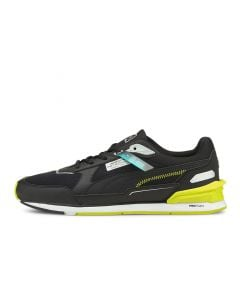 Shop Puma Mercedes F1 Low Racer Sneaker Mens Black Yellow at Side Step Online
