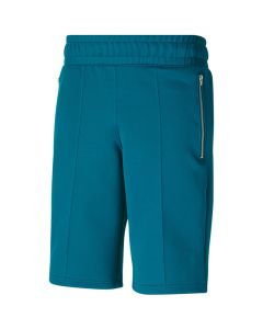 Shop Puma TMC Hustle Way Shorts Mens Bermuda Teal Blue at Side Step Online