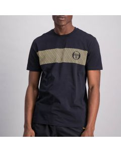 Shop Sergio Tacchini Logo Repeat T-shirt Mens Anthracite Black at Side Step Online
