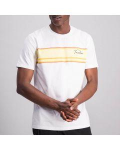 Shop Sergio Tacchini Summer Stripe T-shirt Mens Brilliant White at Side Step Online