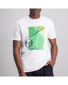Shop Sergio Tacchini Tennis Court T-shirt Mens Brilliant White at Side Step Online