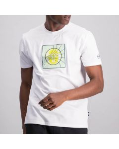 Shop Sergio Tacchini Tennis Lines T-shirt Mens Brilliant White at Side Step Online