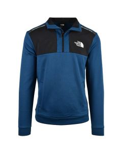 Shop The North Face 1/2 Zip Sweater Mens Mont Blue Black at Side Step Online
