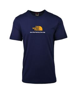 Shop The North Face New Climb T-shirt Mens Aviator Navy at Side Step Online