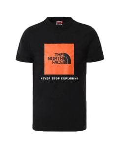Shop The North Face Box T-shirt Youth Black Red Orange at Side Step Online