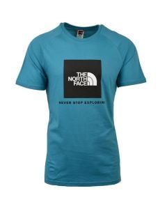 Shop The North Face Raglan Red Box T-shirt Mens Storm Blue at Side Step Online
