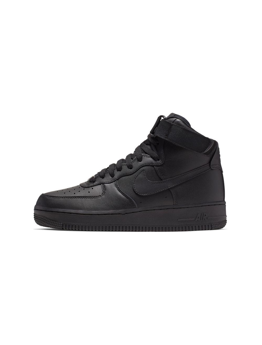 Noroeste Exactitud negar  Nike Air Force 1 Hi Womens Sneakers Black Black