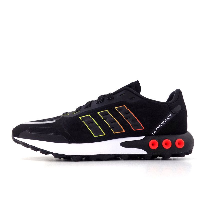 Sumergido formal luces  adidas Originals LA Trainer 3 Sneaker Mens Black Yellow Red