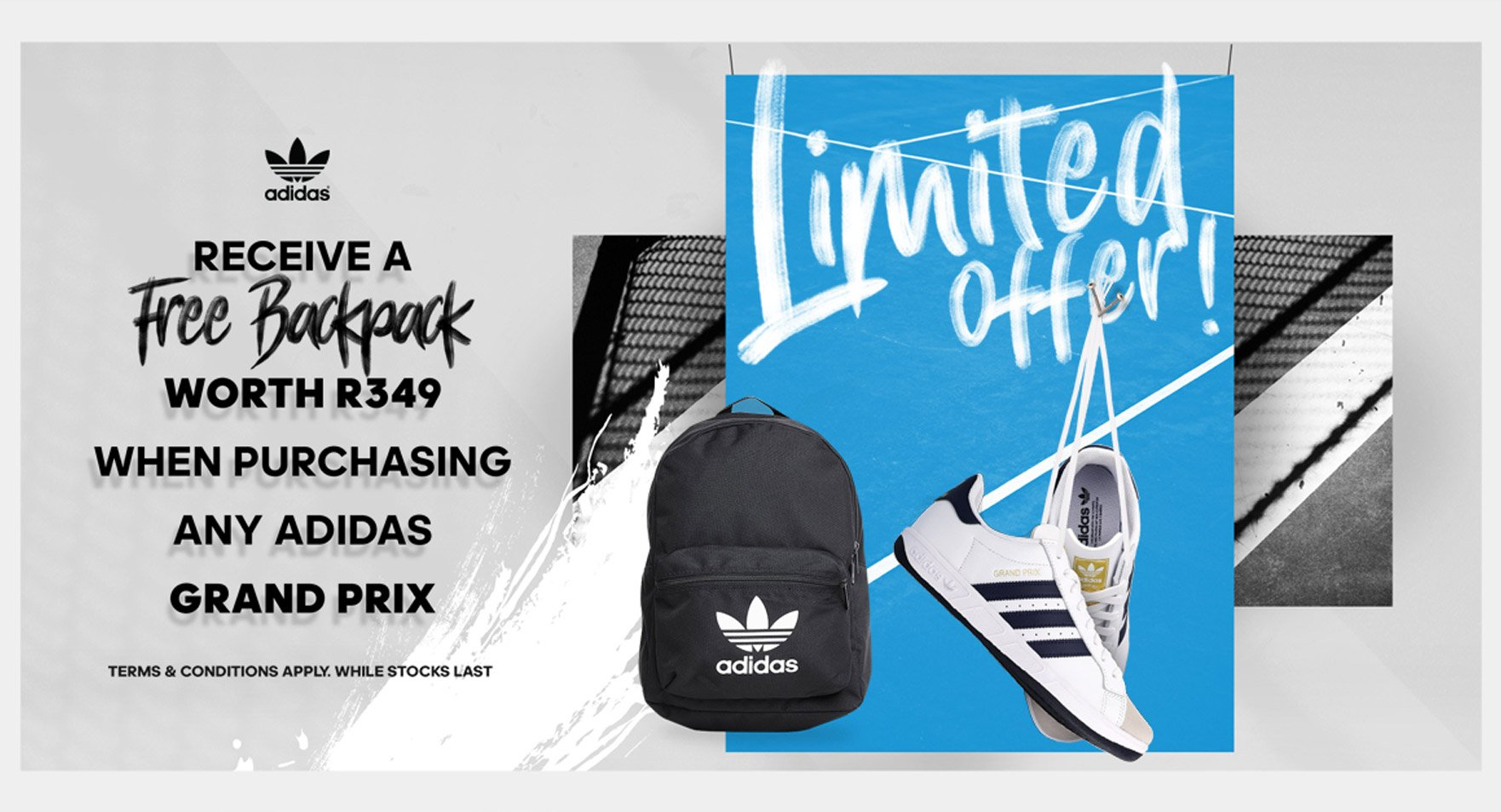 adidas x Grand Prix– Free adidas Backpack - Gift with Purchase